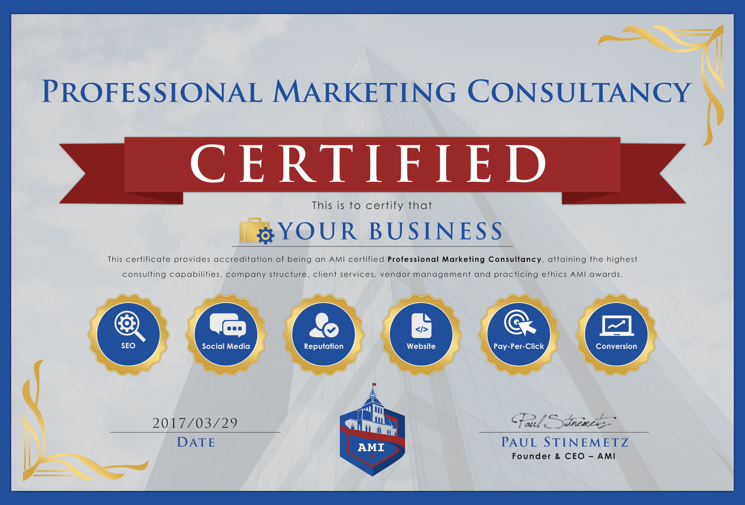 Consultancy Certification Advanced Marketers Institute